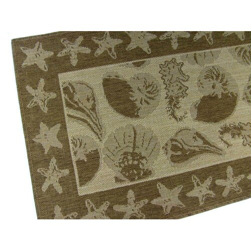 American Mills By the Sea Chocolate Novelty Rug