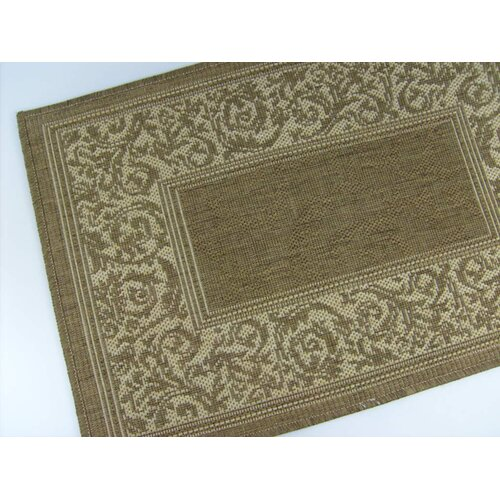 American Mills Entwined Chocolate Indoor/Outdoor Rug