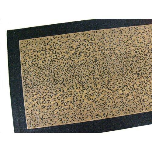 Leopard Black Indoor/Outdoor Rug