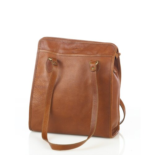 Aston Leather Vertical Tote Bag
