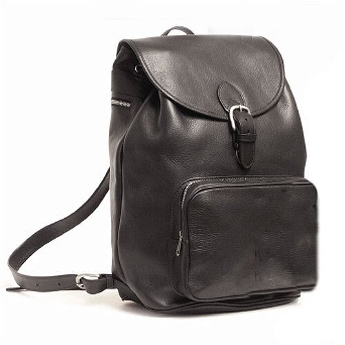 Aston Leather Large Backpack with Front Pocket