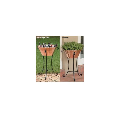 Unique Arts Large Copper Beverage Stand with Stand