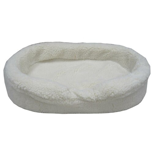 Sheepskin Lounger Donut Dog Bed