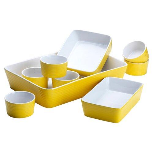 9 Piece Embossed Ring Bakeware Set