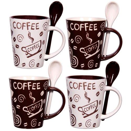 Home Essentials and Beyond Coffee 10 oz. Mug and Spoon