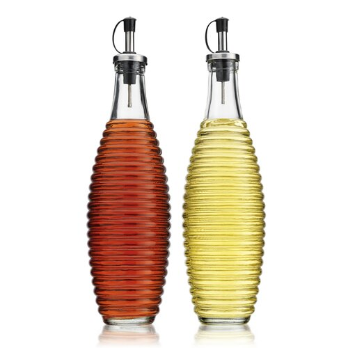 Home Essentials and Beyond Ribbed 20 oz. Oil and Vinegar Bottle