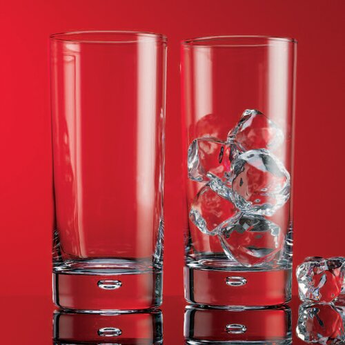 Red Series 17 oz. Bubble Highball Glass (Set of 4)