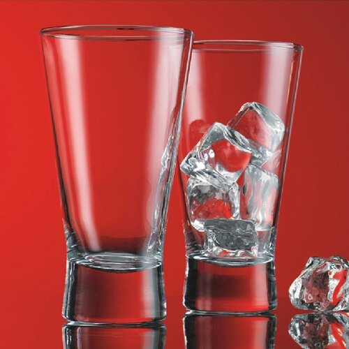 Red Series 12 oz. V Line Highball Glass (Set of 4)