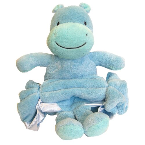 Buddy Hippo Crib Throw Blanket