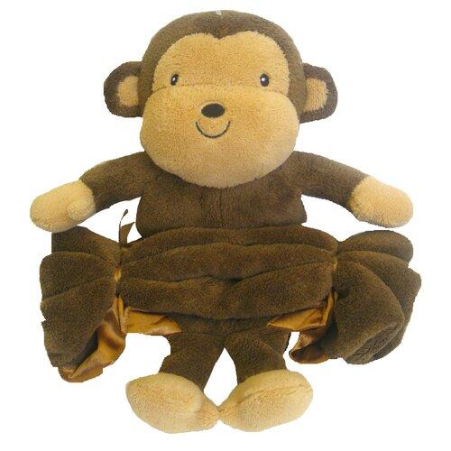 Buddy Monkey Crib Throw