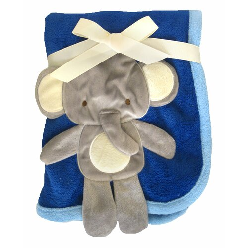 3D Elephant Crib Throw Blanket