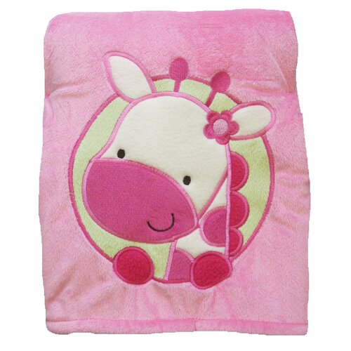 Butterfly Fleece Giraffe Crib Throw