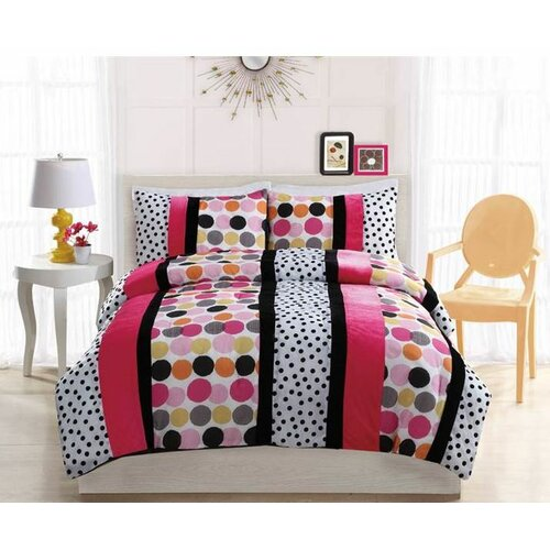 Bed Ink Dani Dot Hot Comforter Set