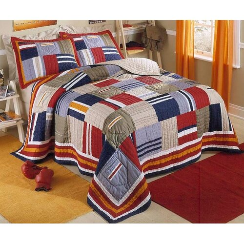 Ronnie Patchwork Prewashed Cotton Quilt Set