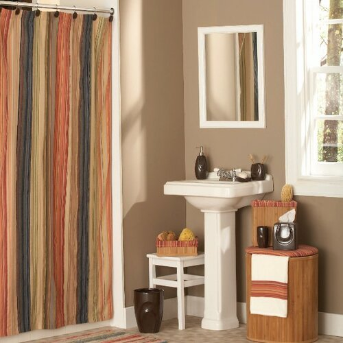 Retro Chic Bath Cotton Shower Curtain Amp Reviews Wayfair