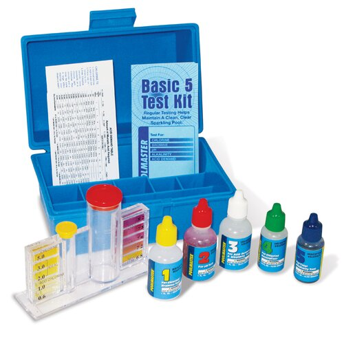 Poolmaster Basic Four Delux Test Kit with Case