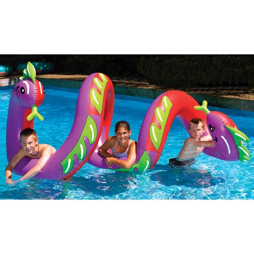 Swimline Ride-On Two Headed Curly Serpent Pool Toy