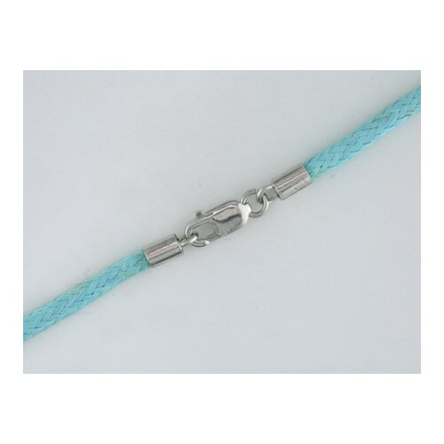 Light Blue Twisted Silk Cord Necklace