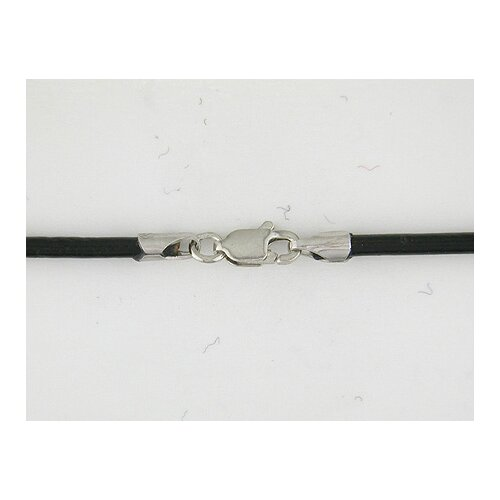 Leather Cord Necklace in Black