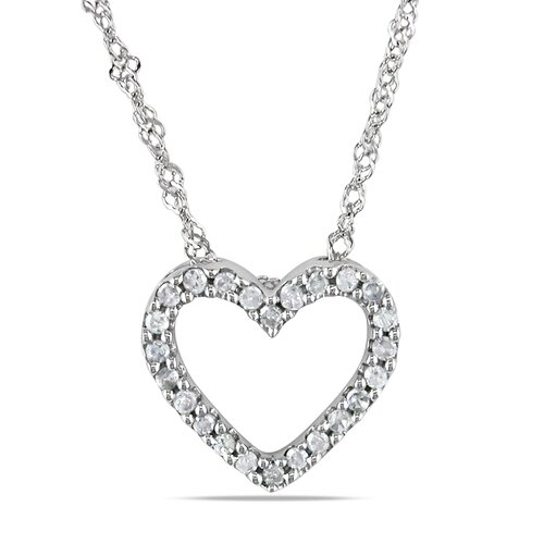 Singapore Chain and Round Cut One Tenth of a Carat Diamonds Pendant
