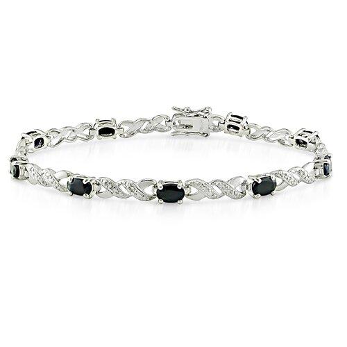 Round Cut Sapphire Bracelet