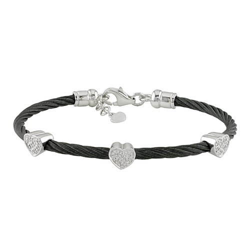 Amour Round Cut Diamond Bangle Bracelet