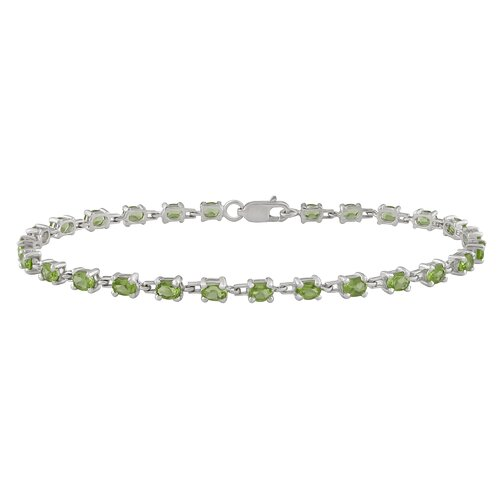 Amour Oval Cut Peridot Tennis Bracelet