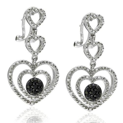 Round Cut Diamond Drop Earrings