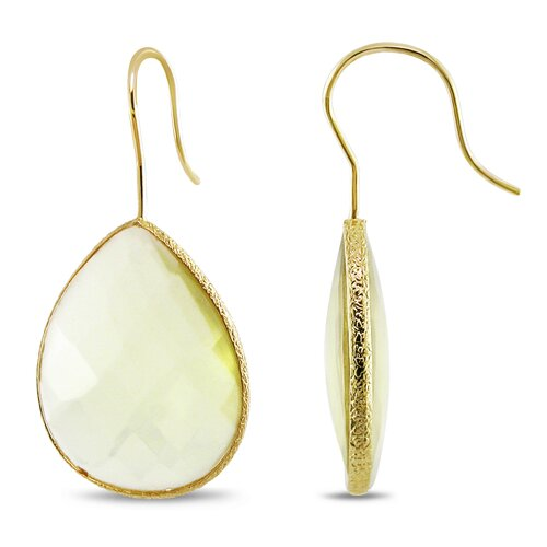 Pear Gemstones Hook Earrings