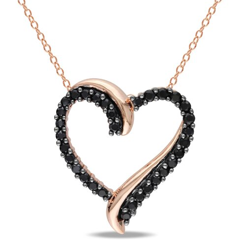 Round Cut Spinel Heart Pendant