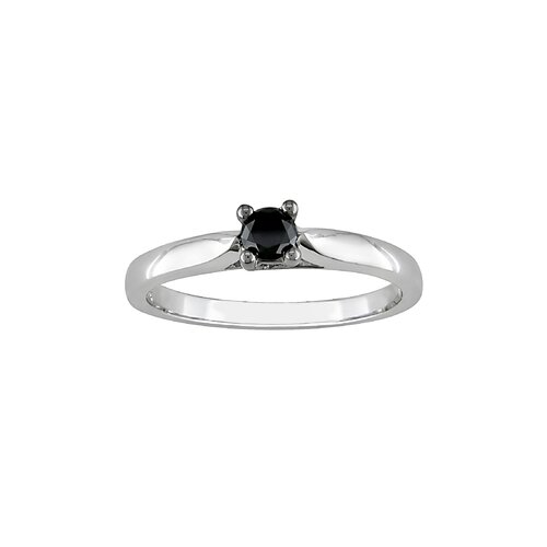 Amour White Gold Round Cut Diamond Solitaire Ring