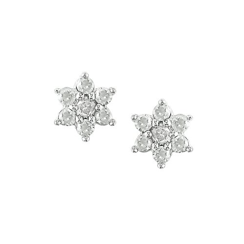 Amour Round Cut Diamond Stud Earring