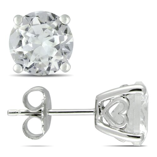 Round Cut Sapphire Stud Earrings