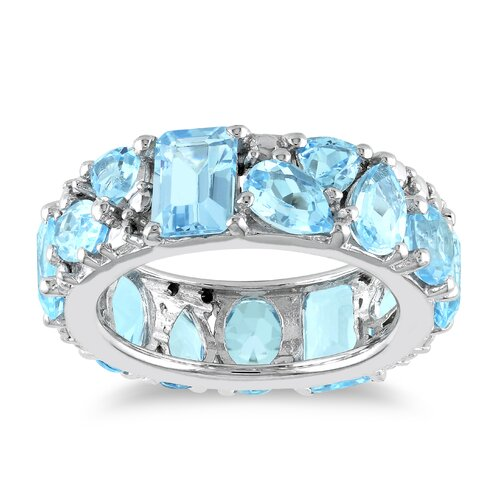 Amour Sterling Silver Multi Topaz Fashion Ring