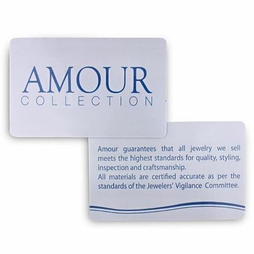Amour Round Cut Cubic Zirconia Dangle Earring