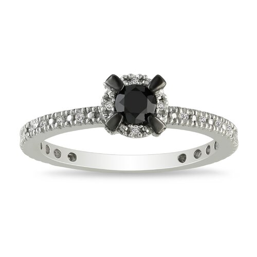 Sterling Silver Round Cut Diamond TW Fashion Ring