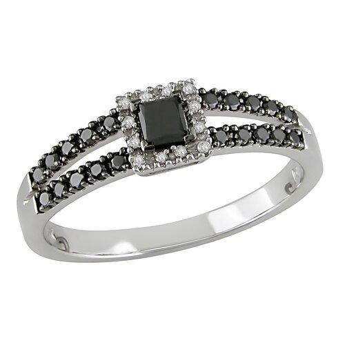 10k White Gold Round Cut Diamond TW Fashion Ring