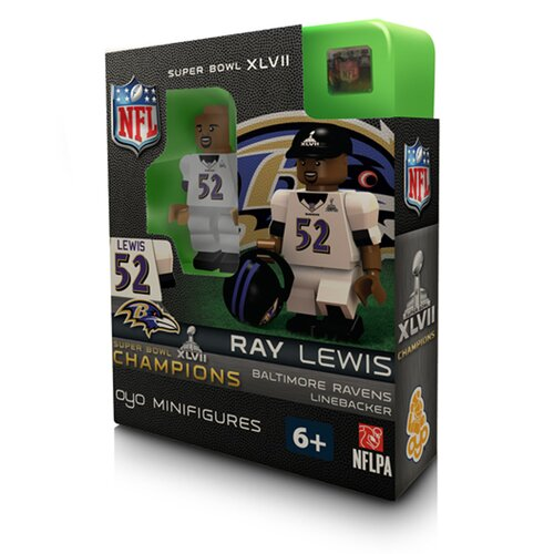 OYO Sports NFL Baltimore Ravens Super Bowl XLVII Champion Ray Lewis Building-Toy Figure