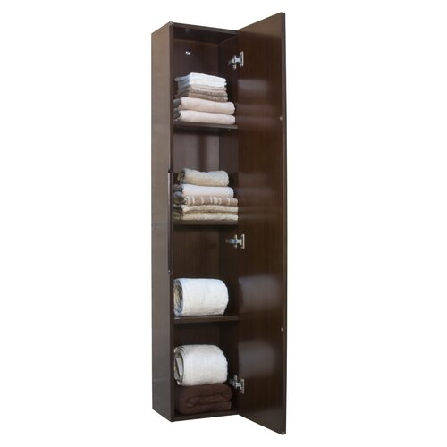 "Madeli 11"" x 59"" Wall Mounted Linen Tower"