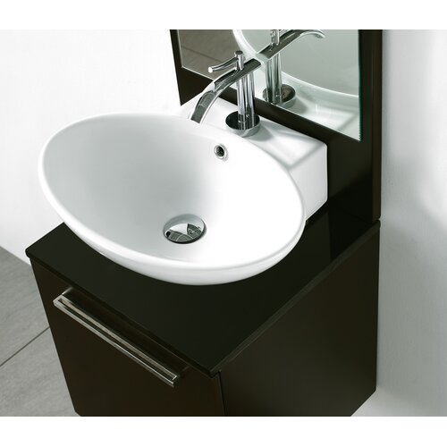 above counter bathroom sinks 21 quot oval above counter ceramic bathroom sink wayfair