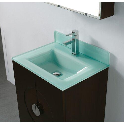 Tempered Glass Countertop Bathroom Sink
