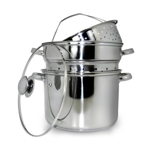 4 Piece Stainless Steel Multi-Cooker Set