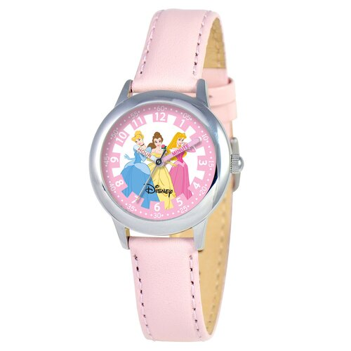 Kid's Princess Time Teacher Watch in Pink Leather