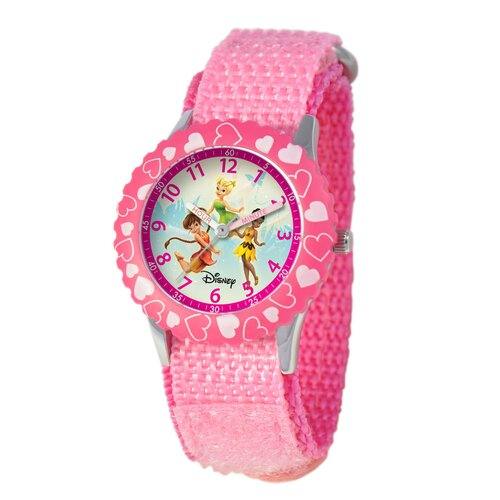 Kid's Fairies Time Teacher Watch in Pink