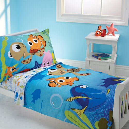 Nemo and Friends 4 Piece Toddler Bedding Set