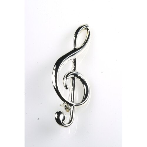 Noteables G Clef Stick Pin in Silver