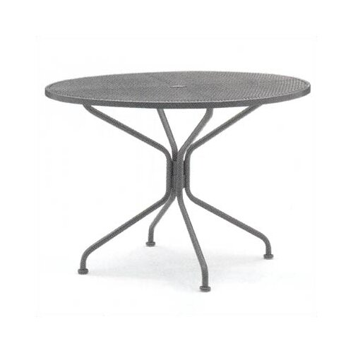 Woodard Premium Mesh Top Round Umbrella Dining Table