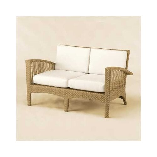 Woodard Trinidad Wicker Loveseat with Cushions