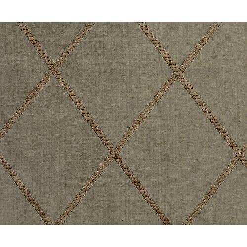 Gracious Living Axiom Silk Rod Pocket Drape Single Panel