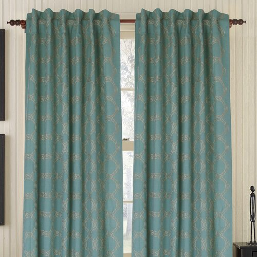 Gracious Living Zen Rod Linen / Cotton Blend Pocket Drape Single Panel